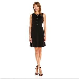 TOMMY HILFIGER Black Knit Sheath Turn-Lock Dress
